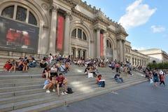 People near Metropolitan Museum, NYC stock photos