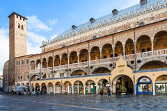 People near Palazzo della Ragione in Padua city Royalty Free Stock Images