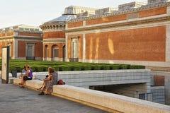 People near Prado Museum in Madrid Royalty Free Stock Photography