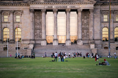 People near the Reichstag in Berlin, Germany Royalty Free Stock Images