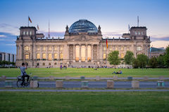 People near the Reichstag in Berlin, Germany Royalty Free Stock Photography