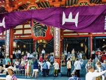 People near the Sensoji Temple in Asakusa, Japan Stock Photography