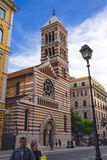 People near St. Paul in the walls Episcopal Church, Rome, Italy Stock Photo