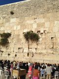 People near the Wall of tears in Jeirusalim royalty free stock photo