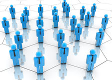 People network. Illustration of icon people arranged in a network Royalty Free Stock Image