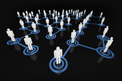 People Network. A 3D rendered illustration of social/business networks Royalty Free Stock Image