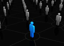 People network. 3d render of people network Royalty Free Stock Photo