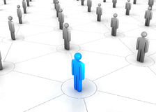 People network. 3d render of people network Royalty Free Stock Photography