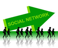 People network stock illustration