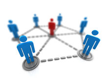 People network. 3d illustration of people network symbol Royalty Free Stock Photos