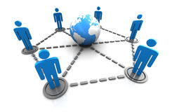 People network. 3d illustration of global people network concept Stock Images
