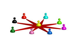 People network. 3d illustration of people network concept Royalty Free Stock Image