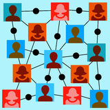 People network Stock Image