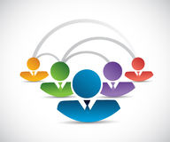 People network communication illustration design Royalty Free Stock Photography