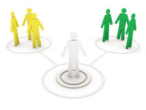 People network. This is a computer generated and 3d rendered picture Stock Photography