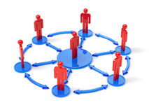 People network concept. 3d render of people network concept. isolated on white background Stock Photography