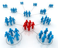 People network connections 3d illustration Royalty Free Stock Photography