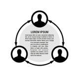 People network illustration Stock Image