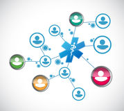 People network and medical concept Stock Image