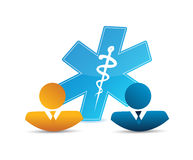 People network and medical concept Royalty Free Stock Photos