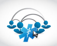 People network and medical symbol concept Royalty Free Stock Images