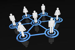 People Network - men and women. A 3D rendered illustration of small crowd of social/business networks Stock Photos
