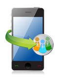 People network phone concept Stock Photography