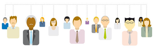 People Network. Social or Business people connections Royalty Free Stock Photography