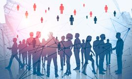 People network and social media in business royalty free illustration