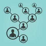People network vector icon. Royalty Free Stock Photos