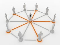 People in a networked crowd. Stock Photography