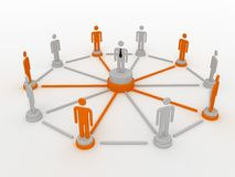 People in a networked crowd. Stock Photo