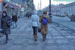 People on the Nevsky Prospect Royalty Free Stock Images