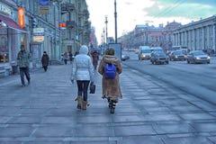 People on the Nevsky Prospect Stock Images