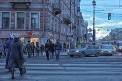 People on the Nevsky Prospect Stock Photography