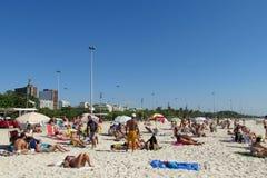 People on nice beach in Rio de Janeiro Royalty Free Stock Photo