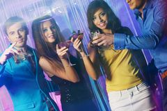 People at night club Royalty Free Stock Photos