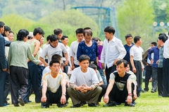 People in NORTH KOREA Royalty Free Stock Photo