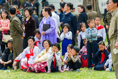People in NORTH KOREA Royalty Free Stock Image