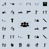 People and numbers matrix icon. Detailed set of Crime icons. Premium quality graphic design sign. One of the collection icons for. Websites, web design, mobile Stock Image