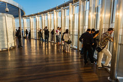People at the observation deck of Burj al Khalifa Royalty Free Stock Images