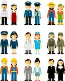 People occupation characters man and woman set in Royalty Free Stock Image