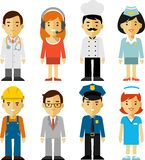 People Occupation Characters Set In Flat Style Royalty Free Stock Photos