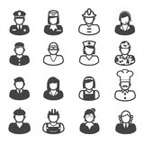 People occupation icons. Mono vector symbols Royalty Free Stock Photos