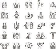 People or occupational icons Stock Images