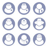 People occupations icon set Stock Images