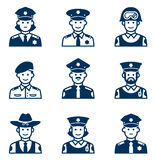 People occupations icons. Police icon. Stock Photography