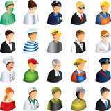 People occupations icons set Stock Photo