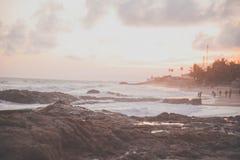 People on an Ocean Beach Royalty Free Stock Photos