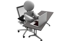 People office. People in office on white background Royalty Free Stock Photo